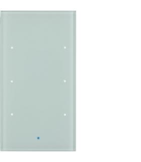 KNX TS Sensor dotykowy 3-krotny,  szkło,  białe