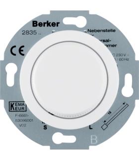 Serie 1930/Glas Rozszerzenie ściemniacza uniwersalnego z płynną regulacją i elementem centralnym, biały Berker 283510
