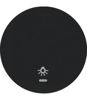 """R.1/R.3 Klawisz z soczewką i nadrukiem symbolu """"światło"""" do łącznika klawiszowego pojedynczego, czarny, połysk Berker 16212035"""