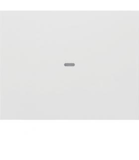 KNX e/s K.x Klawisz z soczewką do modułu przycisku 1-kr,  biały,  połysk