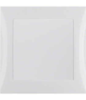 B.Kwadrat/S.1 System przywoławczy Zasilacz 24V z ramką, biały połysk Berker 52048989