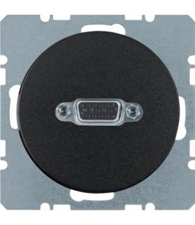 R.1/R.3 Gniazdo VGA czarny, połysk Berker 3315402045