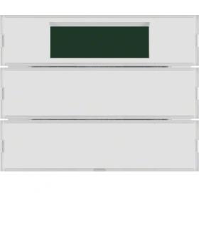 KNX system K.1 Przycisk 2-kr z reg. temp. i wyśw., do ram. biał. i krem.