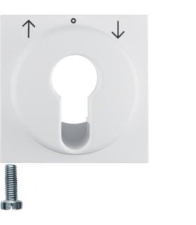 S.1/B.3/B.7 Płytka czołowa do łącznika żaluzjowego na klucz, biały Berker 15061909
