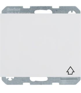 K.1 Gniazdo SCHUKO z pokrywą z przesłonami styków, samozaciski, biały Berker 47517109