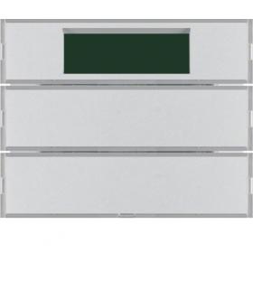 KNX system K.5 Przycisk 2-kr z reg. temp. i wyśw., alu