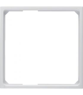 B.x/S.1 Pierścień adaptacyjny do płytek czołowych 50x50mm, biały, połysk Berker 11099089