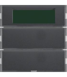 KNX system B.3/B.7 Przycisk 2-kr z reg. temp. i wyśw., do ram. alu i antracyt