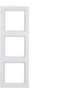 Q.3 Ramka 3-krotna, biały, aksamit Berker 10136099