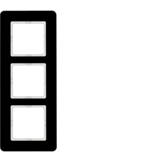 Q.7 Ramka 3-krotna, szkło, czarny Berker 10136076