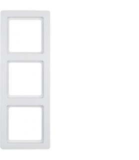 Q.1 Ramka 3-krotna, biały, aksamit Berker 10136089