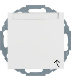 S.1/B.3/B.7 Gniazdo SCHUKO z pokrywą i polem opisowym, z przesłonami styków, biały Berker 47461909