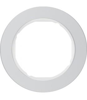 R.classic Ramka 1-krotna, aluminium/biały Berker 10112074