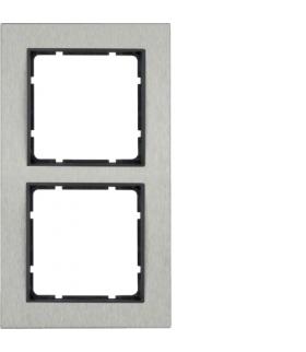 B.7 Ramka 2-krotna pozioma, stal szlachetna/antracyt mat Berker 10223606