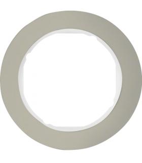 R.classic Ramka 1-krotna, stal szlachetna/biały Berker 10112014