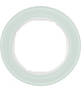 R.classic Ramka 1-krotna, szkło, biały Berker 10112009