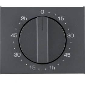 K.1 Płytka czołowa z pokrętłem do mechanicznego łącznika czasowego 120 min, antracyt mat, lakierowany Berker 16357106