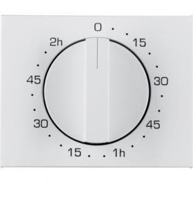 K.1 Płytka czołowa z pokrętłem do mechanicznego łącznika czasowego 120 min, biały Berker 16357109