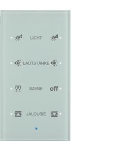 KNX TS Sensor dotykowy 4-krotny konfigurowalny, szkło, białe