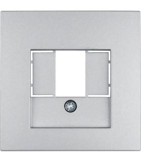 B.Kwadrat/B.7 Płytka czołowa do gniazda głośnikowego i gniazda ładowania USB, alu mat, lakierowany Berker 10331404