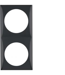 Integro Flow Ramka 2-krotna, czarny, połysk Berker 918262510