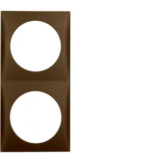 Integro Flow Ramka 2-krotna, brązowy, mat Berker 918262511