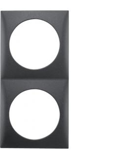 Integro Flow Ramka 2-krotna, antracyt, mat Berker 918262515