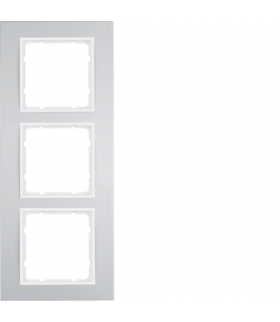 B.3 Ramka 3-krotna, alu/biały Berker 10133904
