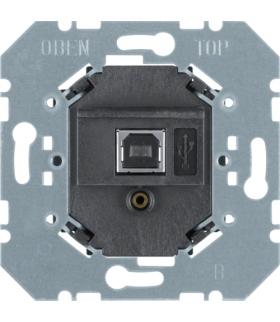 KNX Interfejs do transmisji danych USB p/t, czarny