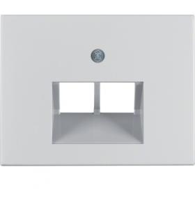 K.5 Płytka czołowa do gniazda przyłączeniowego UAE 2-kr komputerowego i telefonicznego, alu Berker 14097003