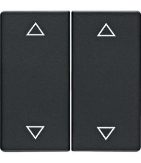"""Q.x Klawisze z nadrukiem symbolu """"strzałki"""" do łącznika 2-klawiszowego, antracyt, aksamit Berker 16446086"""