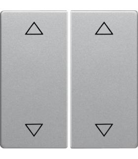 """Q.x Klawisze z nadrukiem symbolu """"strzałki"""" do łącznika 2-klawiszowego, alu aksamit, lakierowany Berker 16446084"""
