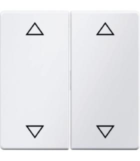 """Q.x Klawisze z nadrukiem symbolu """"strzałki"""" do łącznika 2-klawiszowego, biały, aksamit Berker 16446089"""