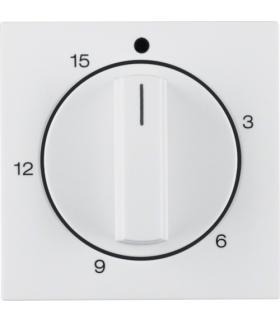 B.x/S.1 Płytka czołowa z pokrętłem regulacyjnym do mechanicznego łącznika czasowego 0-15 min, biały, połysk Berker 16328989