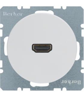 R.1/R.3 Gniazdo HDMI z przyłączem 90° biały, połysk Berker 3315432089