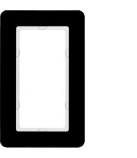 Q.7 Ramka z dużym wycięciem szkło czarne Berker 13096076