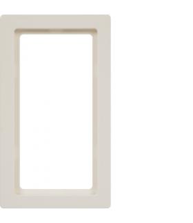 Q.1 Ramka z dużym wycięciem, biały, aksamit Berker 13096089