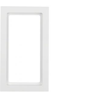 Q.3 Ramka z dużym wycięciem, biały, aksamit Berker 13096099