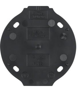 Serie 1930 Płytka denka samogasnąca 1-krotna, czarny Berker 133111