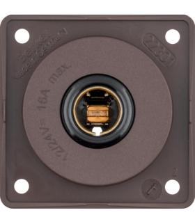 Integro Flow Gniazdo zasilające 12 V, samochodowe, brązowy, mat Berker 945172501
