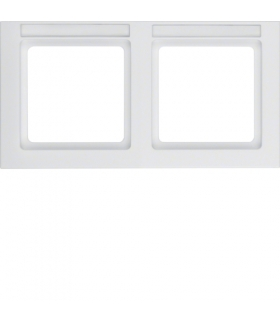 Q.3 Ramka 2-krotna pozioma z polem opisowym, biały, aksamit Berker 10226099