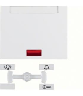 K.1 Klawisz z 5 dołączonymi soczewkami i polem opisowym do łącznika 1-klawiszowego, biały Berker 14157109