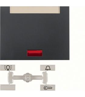 K.1 Klawisz z 5 dołączonymi soczewkami i polem opisowym do łącznika 1-klawiszowego, antracyt mat, lakierowany Berker 14157106