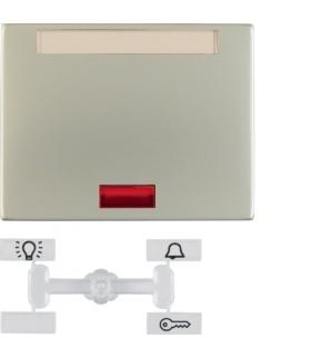 K.5 Klawisz z 5 dołączonymi soczewkami i polem opisowym do łącznika 1-klawiszowego, stal szlachetna nierdzewna Berker 14157104