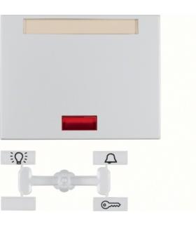 K.5 Klawisz z 5 dołączonymi soczewkami i polem opisowym do łącznika 1-klawiszowego, alu Berker 14157103