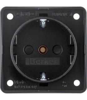 Integro Flow Gniazdo SCHUKO z podwyższoną ochroną styków, mechanizm, czarny, mat Berker 9419505