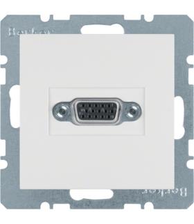 S.1/B.3/B.7 Gniazdo VGA, zaciski śrubowe, biały, mat Berker 3315411909