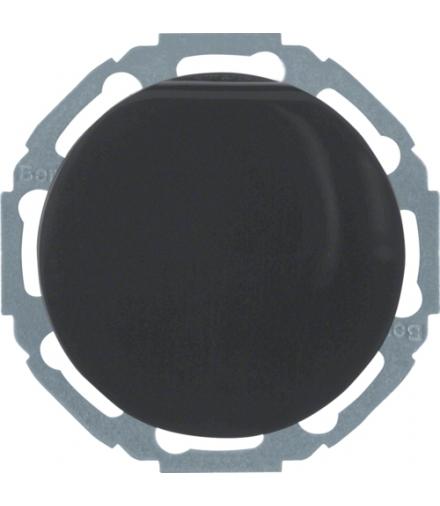 R.classic Gniazdo SCHUKO z pokrywą, samozaciski, czarny, połysk Berker 47442045