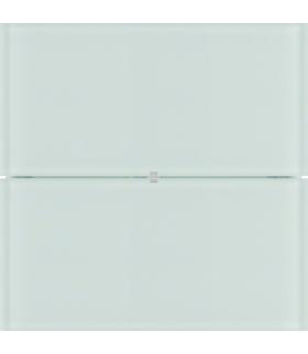 B.IQ Przycisk 2-krotny komfort,  szkło białe
