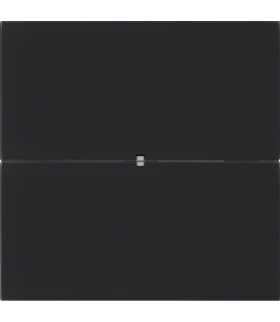 B.IQ Przycisk 2-krotny komfort,  szkło czarne